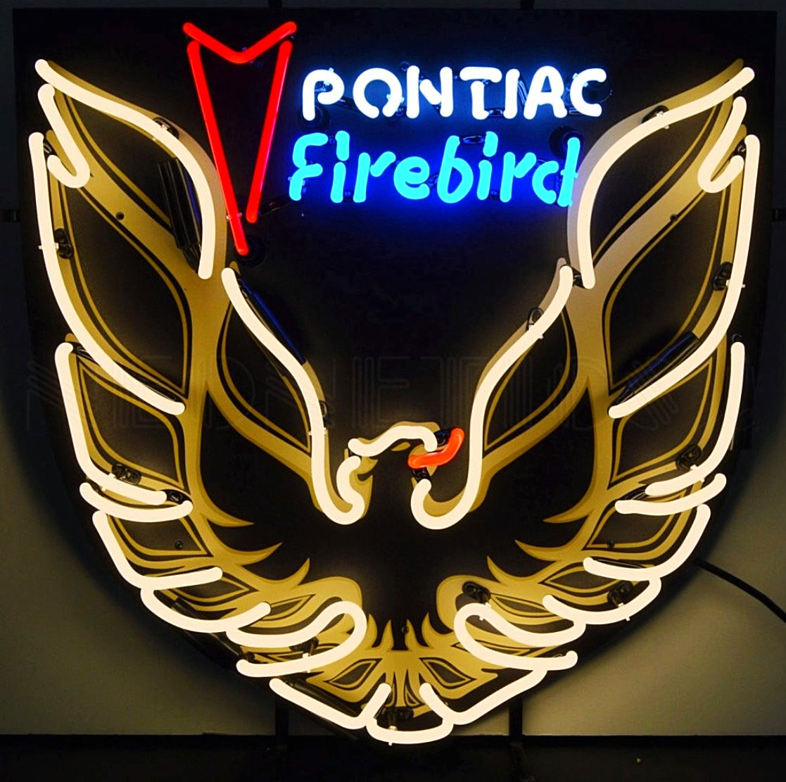 Pontiac Firebird Neon Sign with Backing