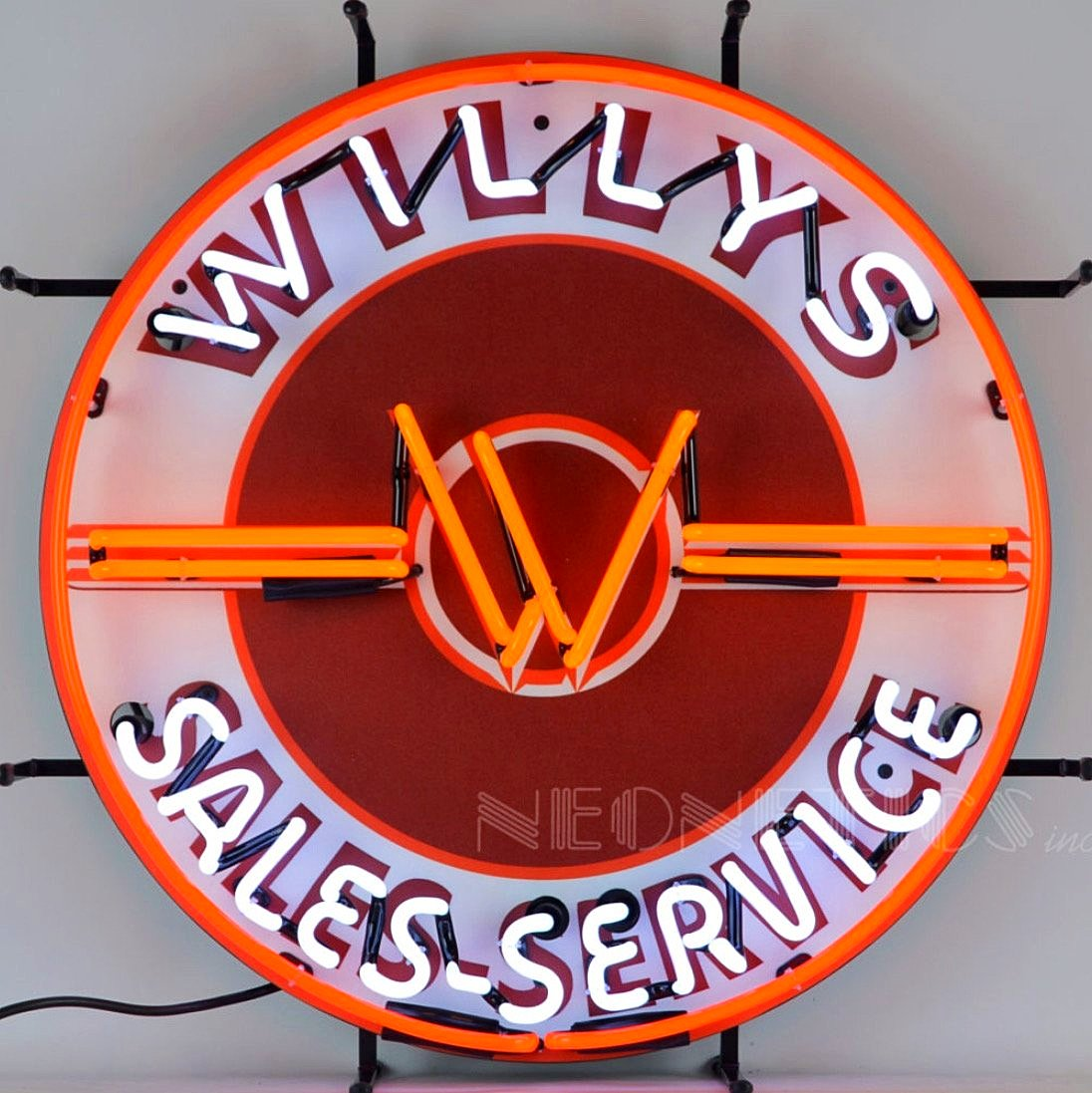 Willy's Jeep Sales & Service Neon Sign