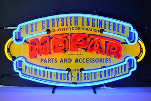 Mopar Vintage Parts Neon Sign