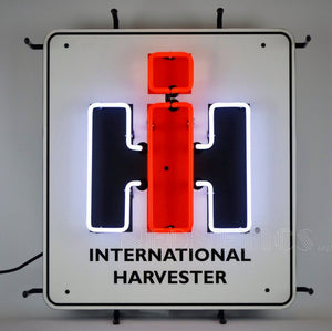 International Harvester Logo Neon Sign