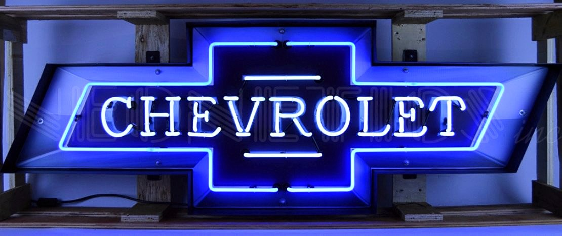 5' Chevrolet Bowtie in Steel Can Neon Sign