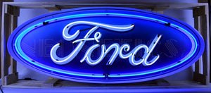 5' Ford Oval in Steel Can Neon Sign