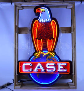 Case Eagle in Steel Can Neon Sign