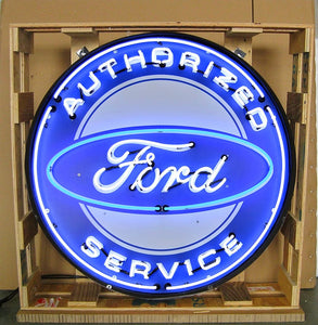 Ford Authorized Service in Steel Can Neon Sign
