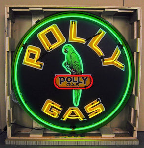 Polly Gas in Steel Can Neon Sign