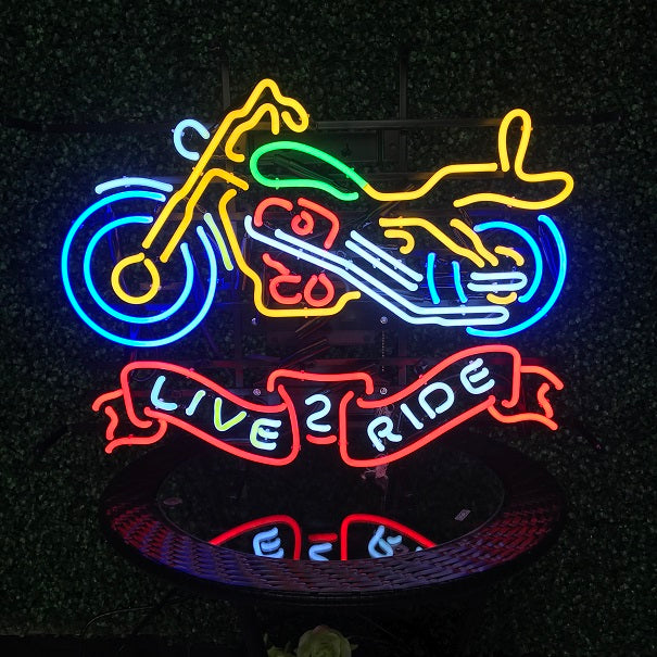 Live 2 Ride Neon Sign
