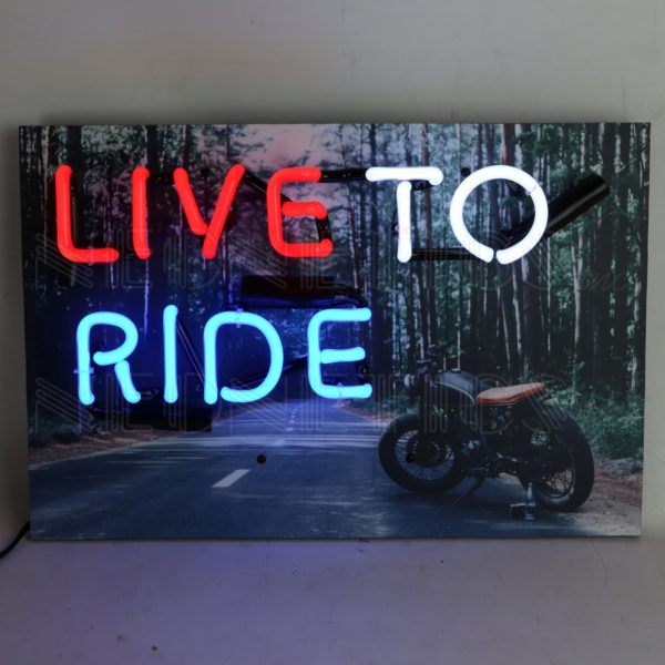 Live To Ride Junior Neon Sign
