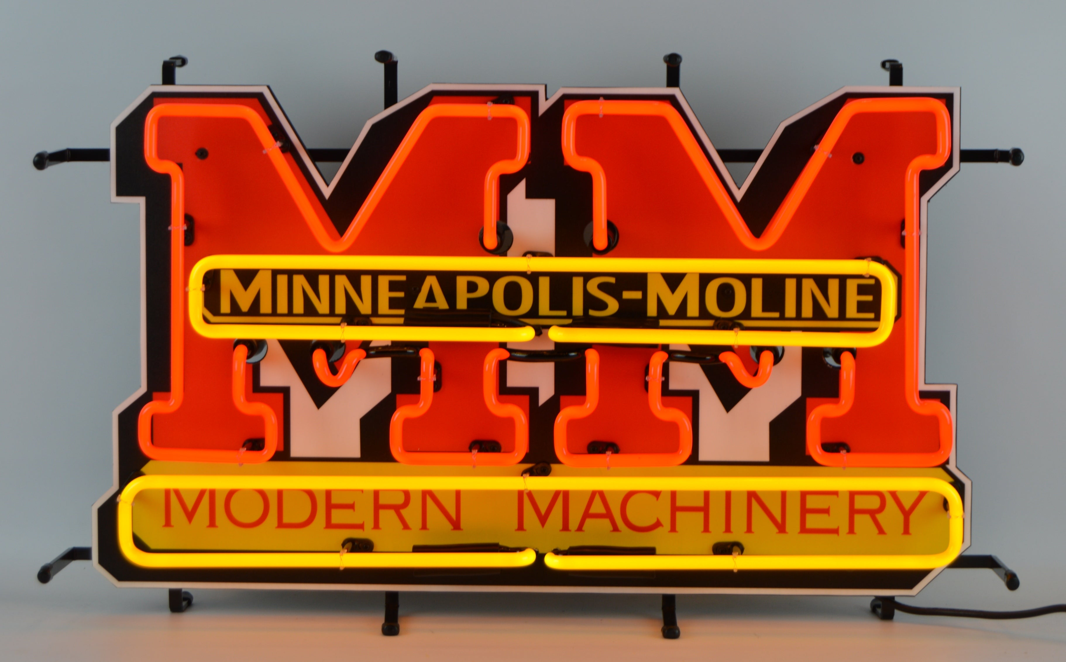 Minneapolis-Moline Modern Machinery Neon Sign