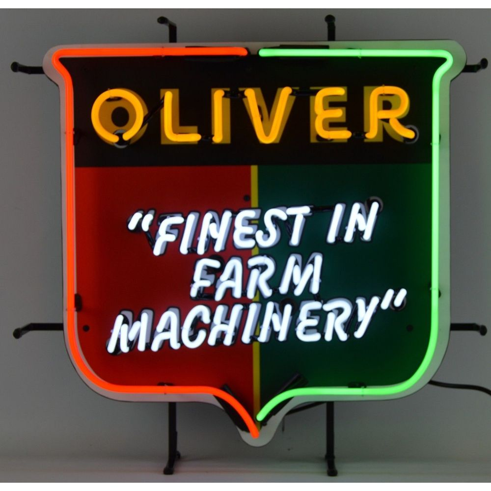 Oliver Tractors Neon Sign