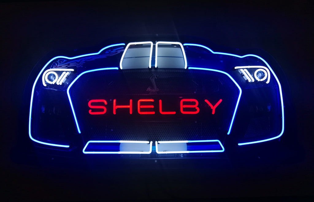Shelby GT 500 Neon Sign in a Steel Can