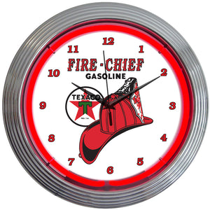 Texaco Fire Chief Neon Clock