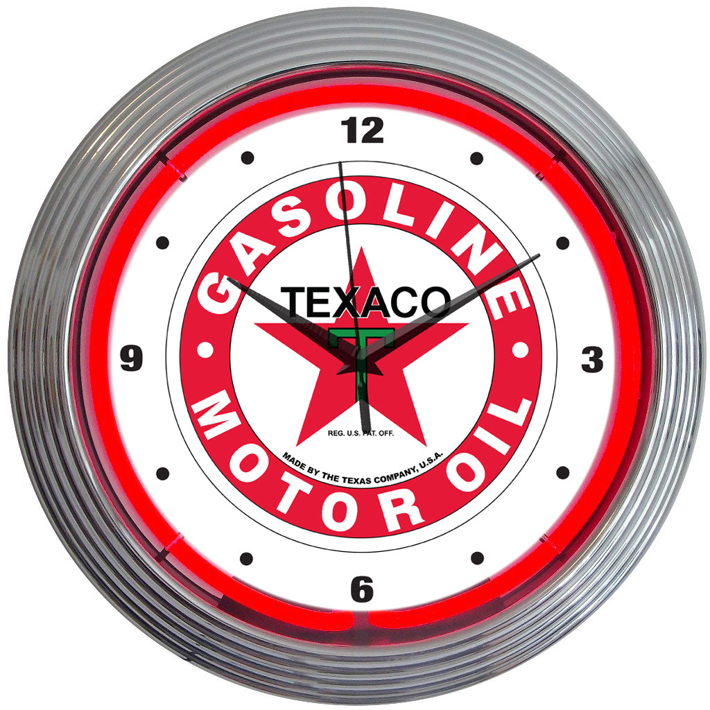 Texaco Star Neon Clock