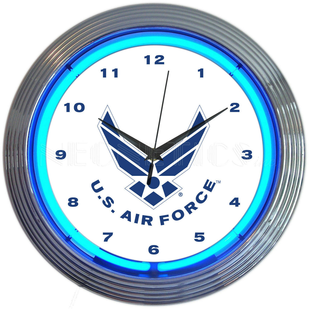 US Air Force Neon Clock