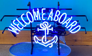 Welcome Aboard Neon Sign