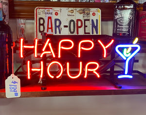 Happy Hour Jr. Neon Sign