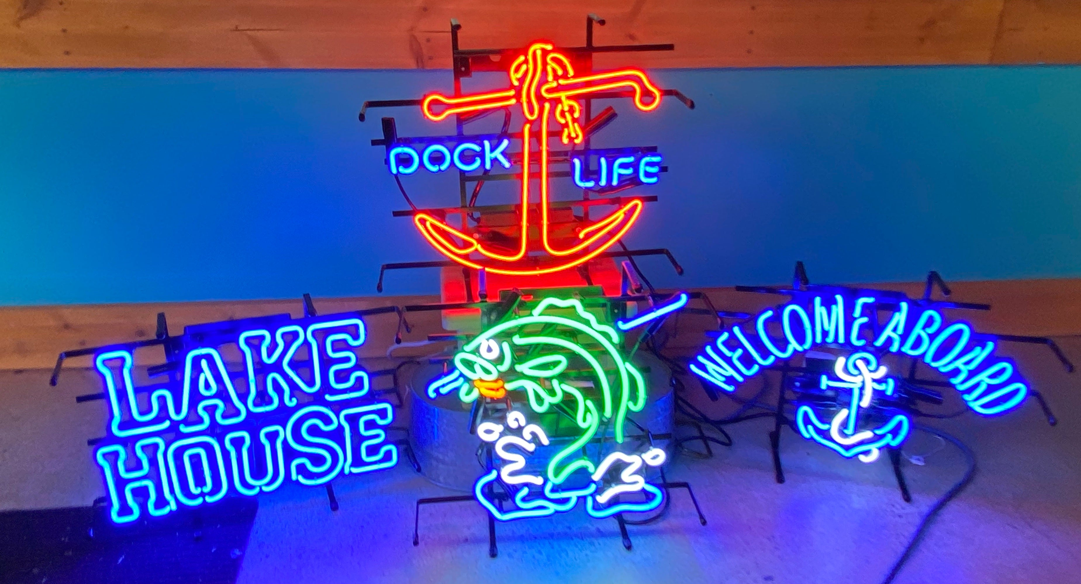 Fish Hooked Neon Sign