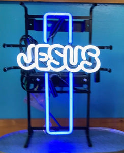 Jesus Cross Neon Sign