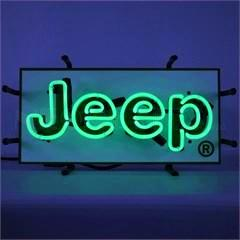 Jeep Jr. Neon Sign