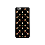 Hedgehog Pattern Black iPhone 6/6s, 6 Plus/6s Plus Case
