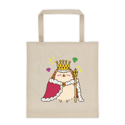 King Hedgehog Tote bag