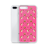 Hedgehog Pattern Pink iPhone 7/8, 7 Plus/8 Plus Case