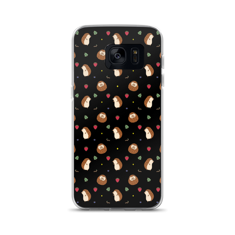 Hedgehog Pattern Black Samsung Case