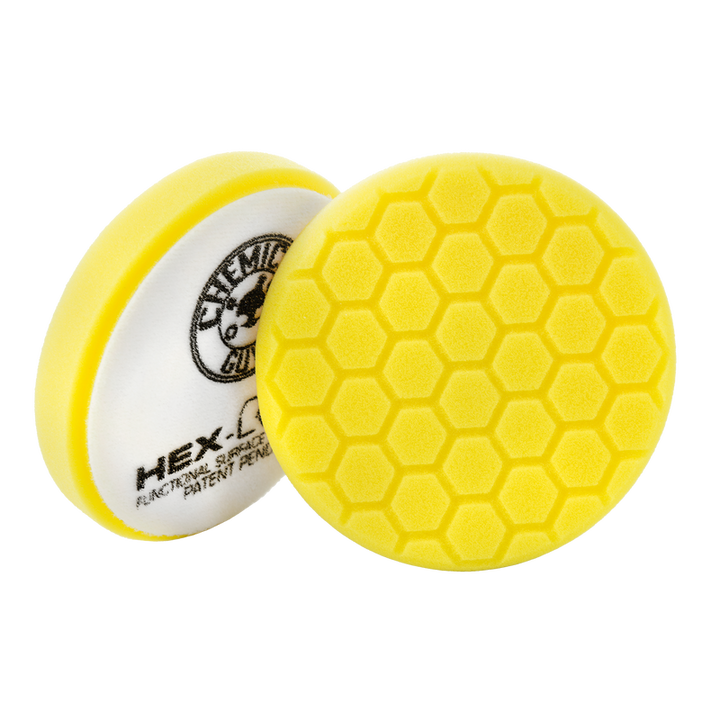"Chemical Guys Hex-Logic Heavy Cutting Pad Yellow Chemguys - 5.5""/6.5"""