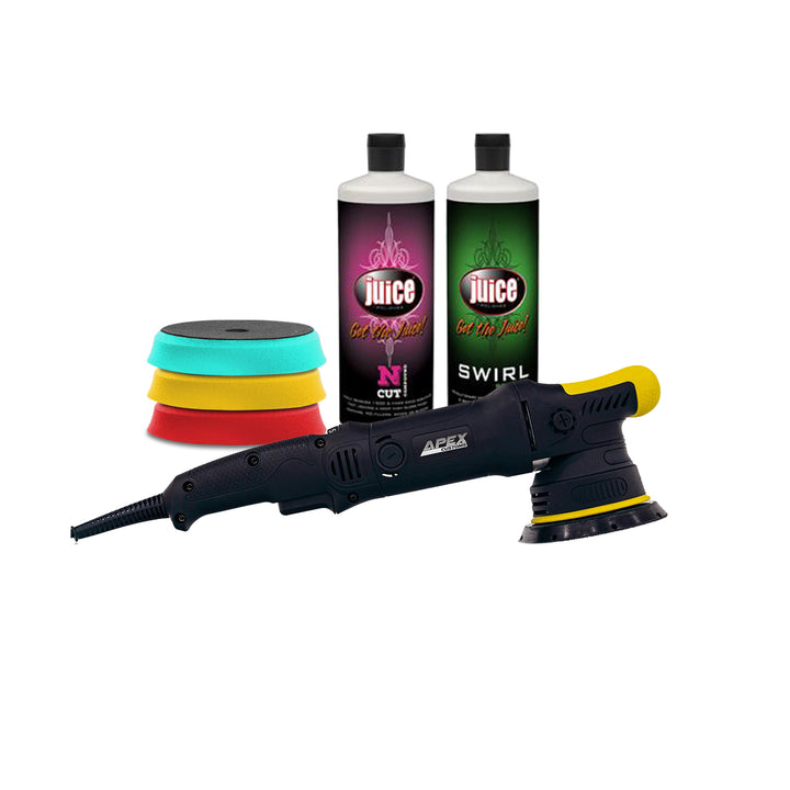 Apex Customs Sensei Plus - Professional DA Polisher (15mm/21mm) Juice Detailer's Kit