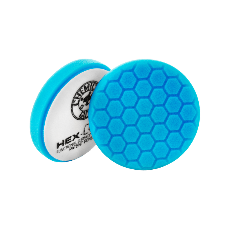 Chemical Guys Hex-Logic Light Polishing/Finishing Pad Blue Chemguys - 5.5""