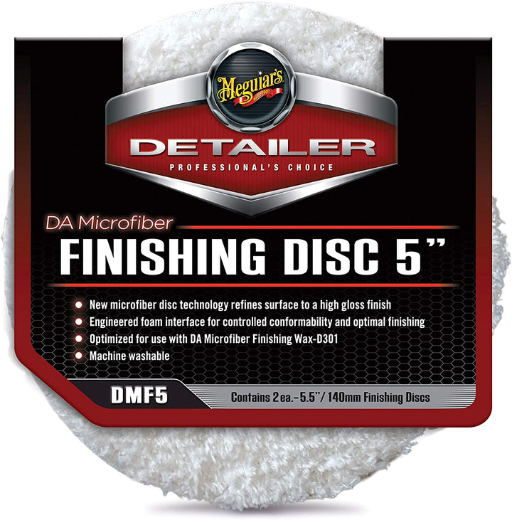 "Meguiars Professional DA Microfibre Finishing Disc Twin Pack - 3""(86mm)/5""(140mm)/6""(159mm)"