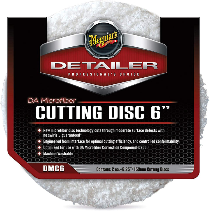 "Meguiars Professional DA Microfibre Cutting Disc Twin Pack - 3""(86mm)/5""(140mm)/6""(159mm)"