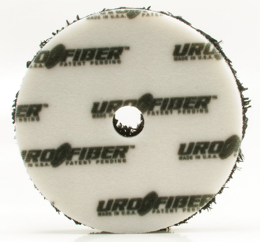 "Buff and Shine Uro-Fiber Black Finishing Pad - 3""/5""/6"""
