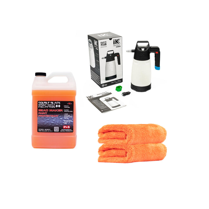 P&S Bead Maker 3.8L + IK Multi Pro 2 Sprayer + 2 x Eagle Edgeless 500 Orange Kit