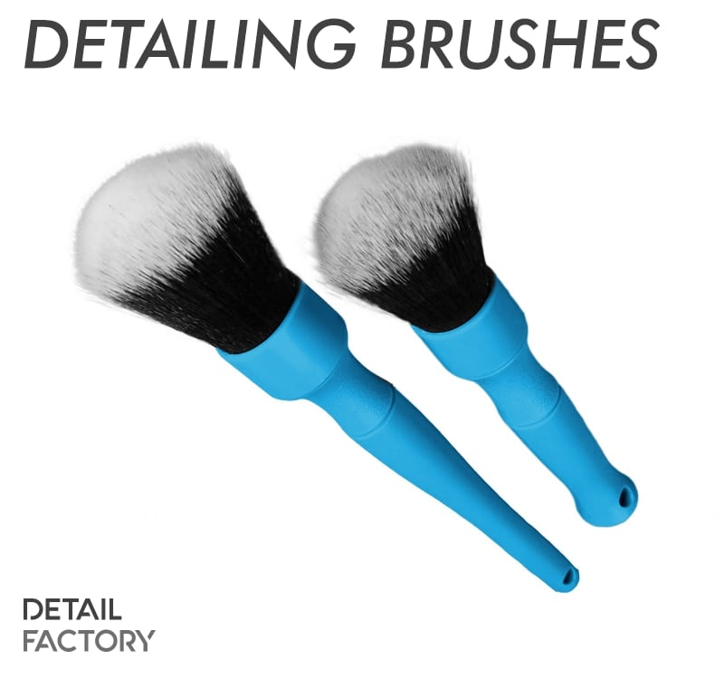 Detail Factory Quality Detailing Brush - Short / Long / Combo (Blue)