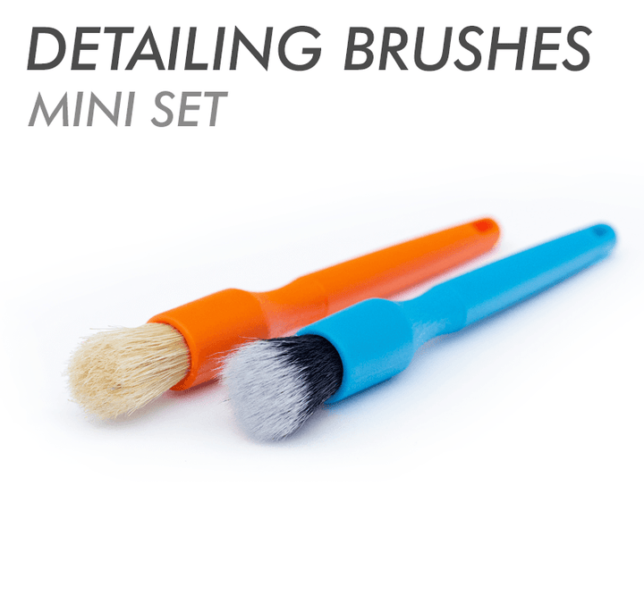 Detail Factory Mini Detailing Brush Set (One Blue + One Orange)