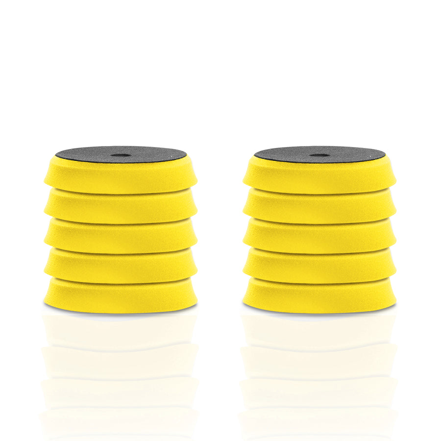 "Apex Customs 6"" German Foam Yellow/Orange Medium Polishing Pad (for 5"" Plates)"
