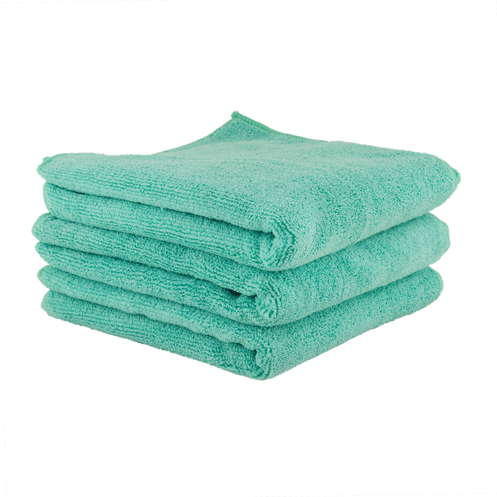 "Chemical Guys Workhorse Towel-Green For Exteriors Professional Grade Microfibre Towels 16"" x 24"" (3-Pack) Chemguys"