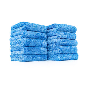The Rag Company The Eaglet 500 Ultra Plush Microfibre Towel (10 Pack) - Blue