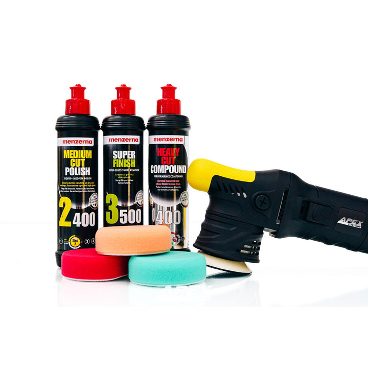 The Grasshopper 2.0 - Mini DA Polisher 12mm - Menzerna Detailer's Kit