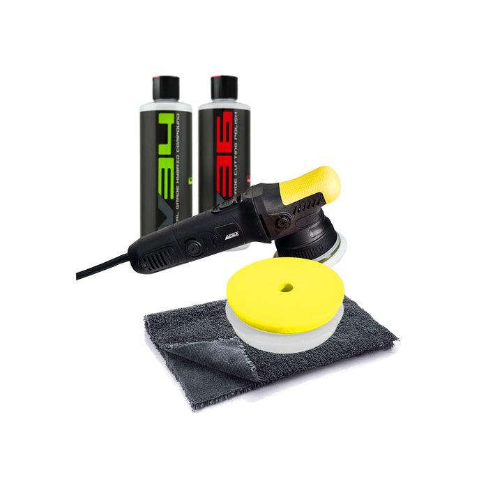 Apex Customs Karate Kid 2.0 DA Polisher 8mm Enthusiast's Chem Guys Kit
