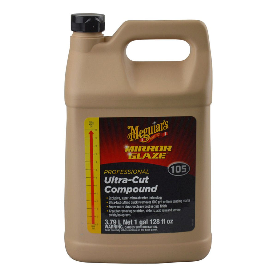 Meguiars Professional M105 Mirror Glaze Ultra Cut Compound - 945ml/3.78L