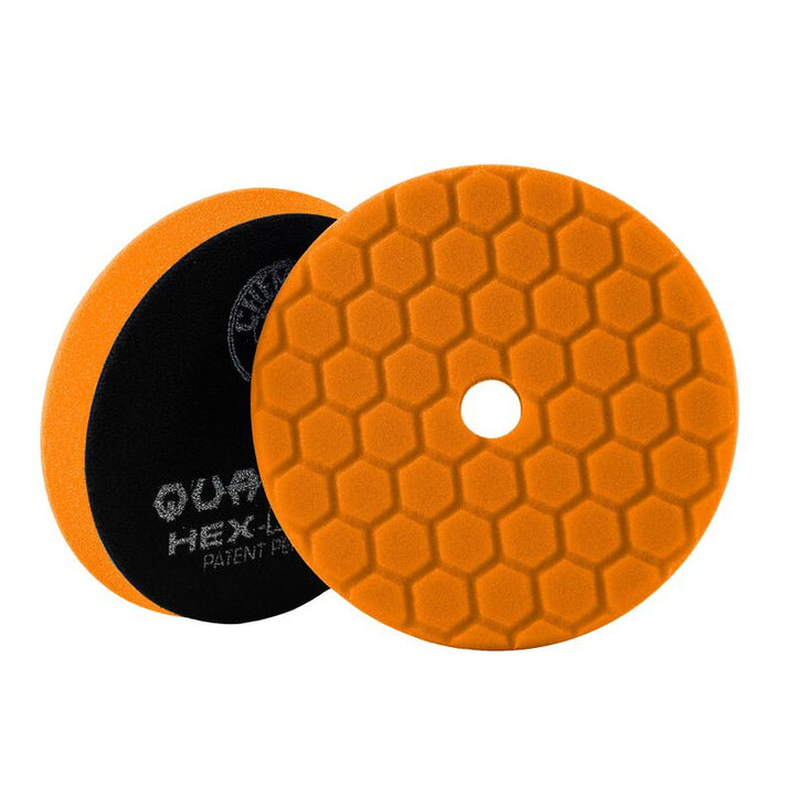 Chemical Guys Hex-Logic Quantum Medium-Heavy Cutting Pad Orange Chemguys - 5.5""