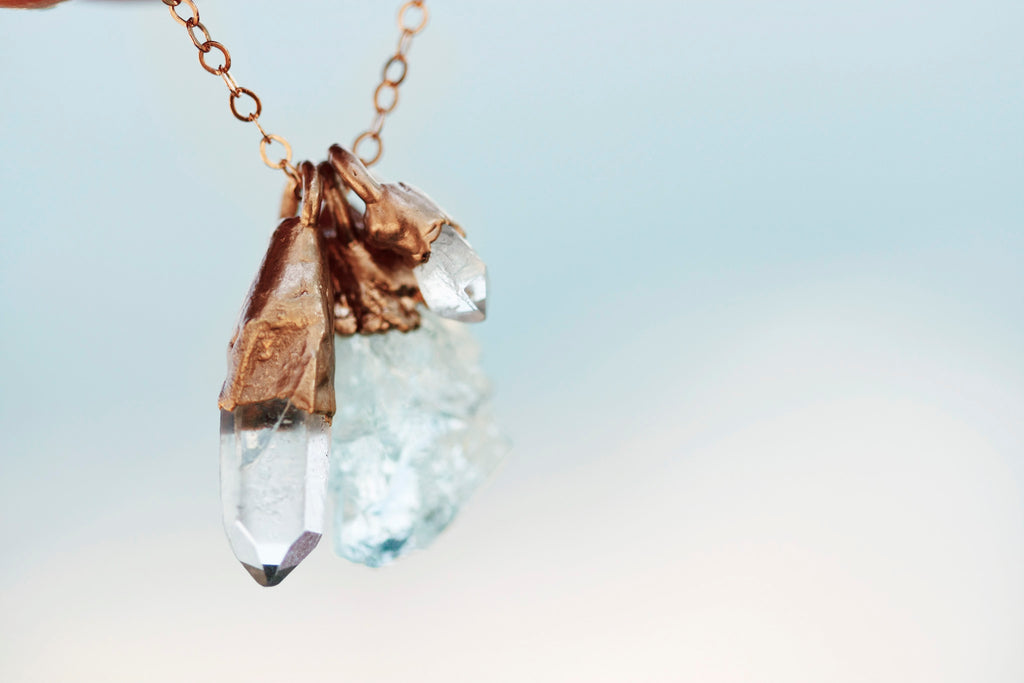 Mothers Charm Necklace // // Rose Gold, Gold, Silver - Little Sycamore