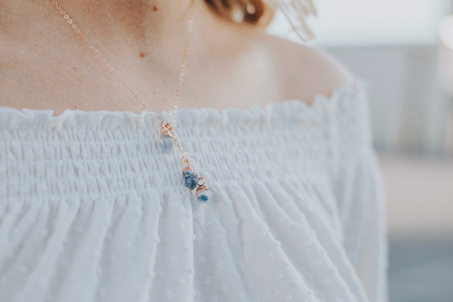 Waterfall Necklace // Rose Gold, Gold, or Silver
