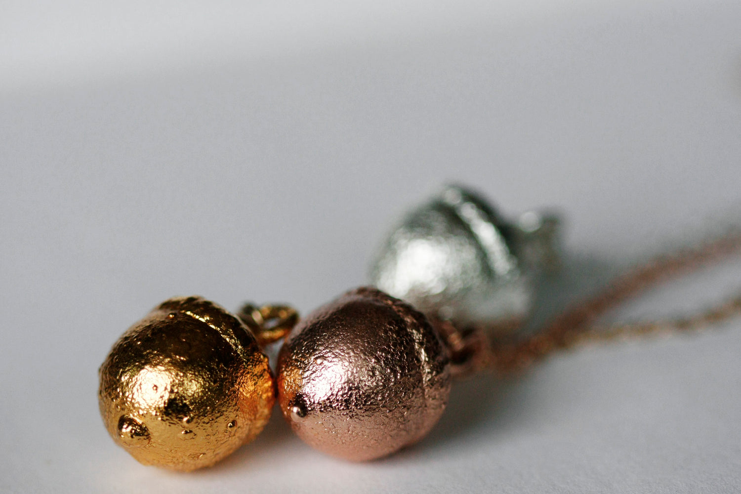 Acorn Necklace // Rose Gold, Gold, or Silver