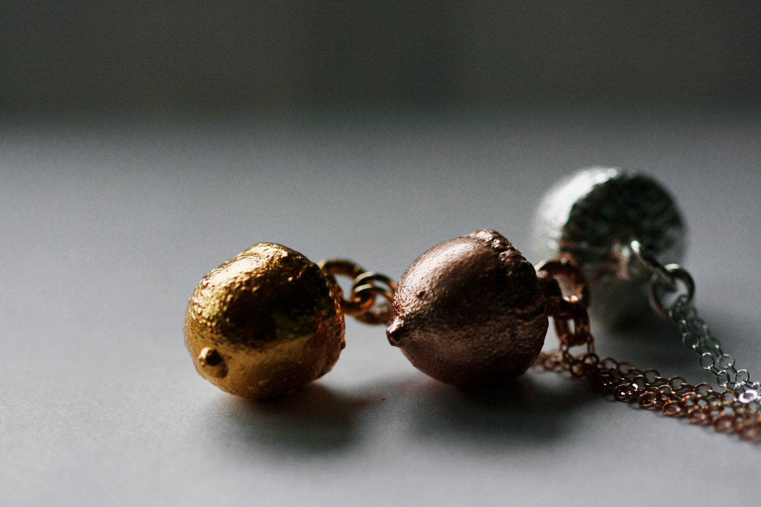 Acorn Necklace // Rose Gold, Gold, or Silver - Little Sycamore