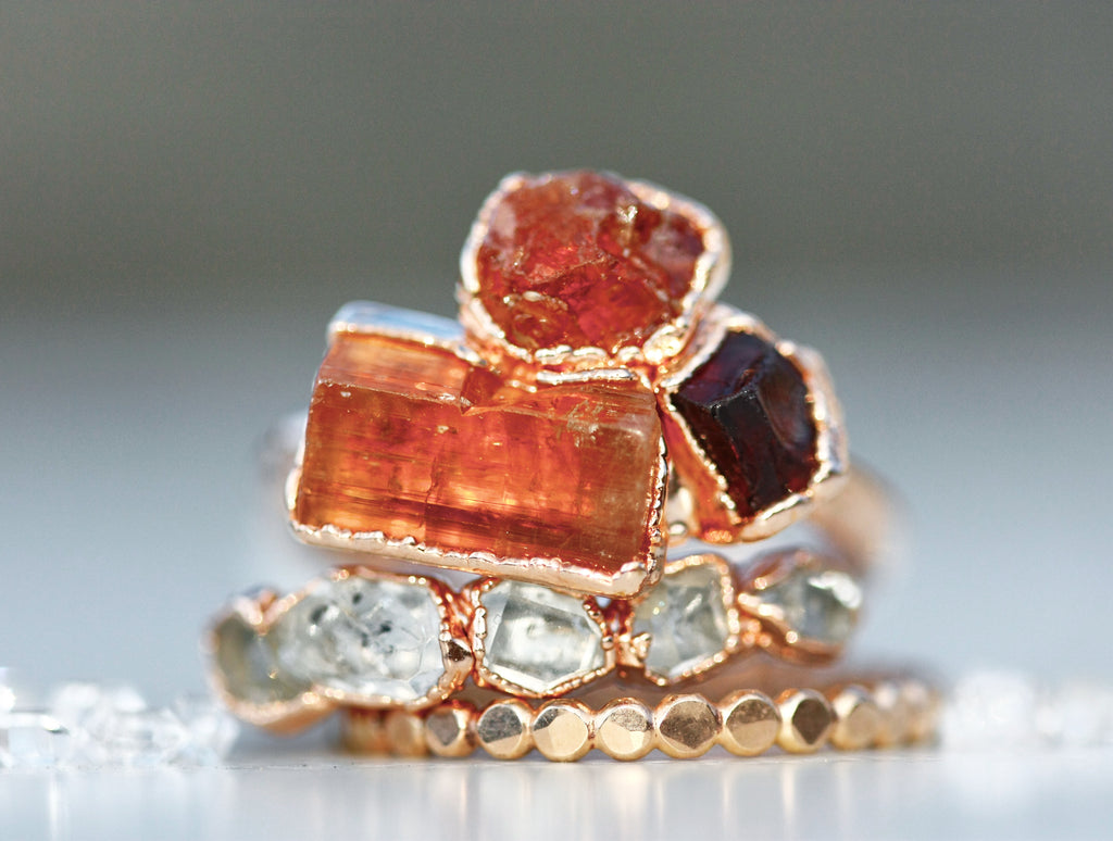 FIRE Element Ring // Rose Gold, Gold, or Silver - Little Sycamore