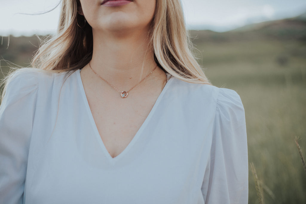 February Moment Necklace // Rose Gold, Gold, or Silver - Little Sycamore