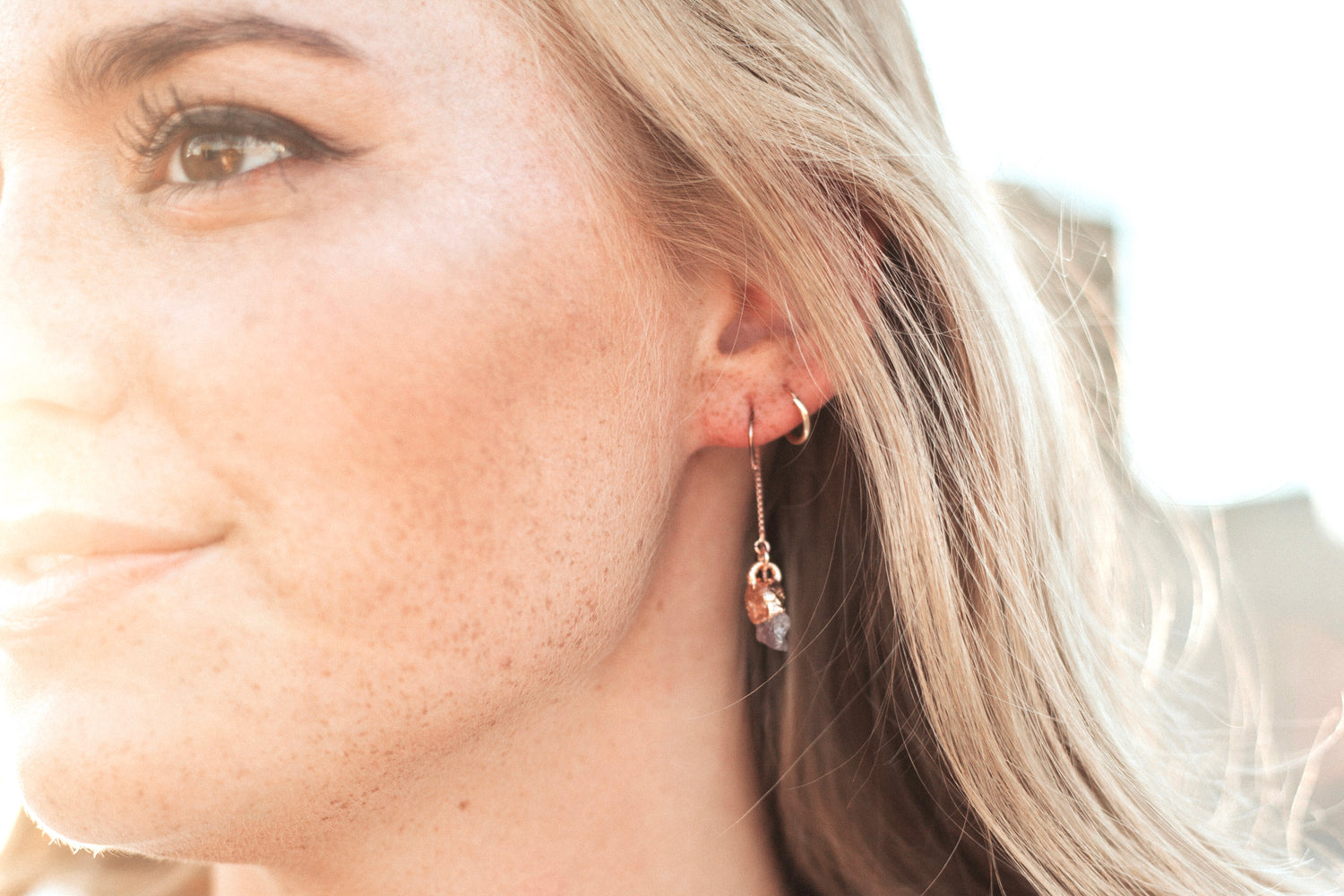 Spinel Drop Earrings // Rose Gold, Gold, or Silver