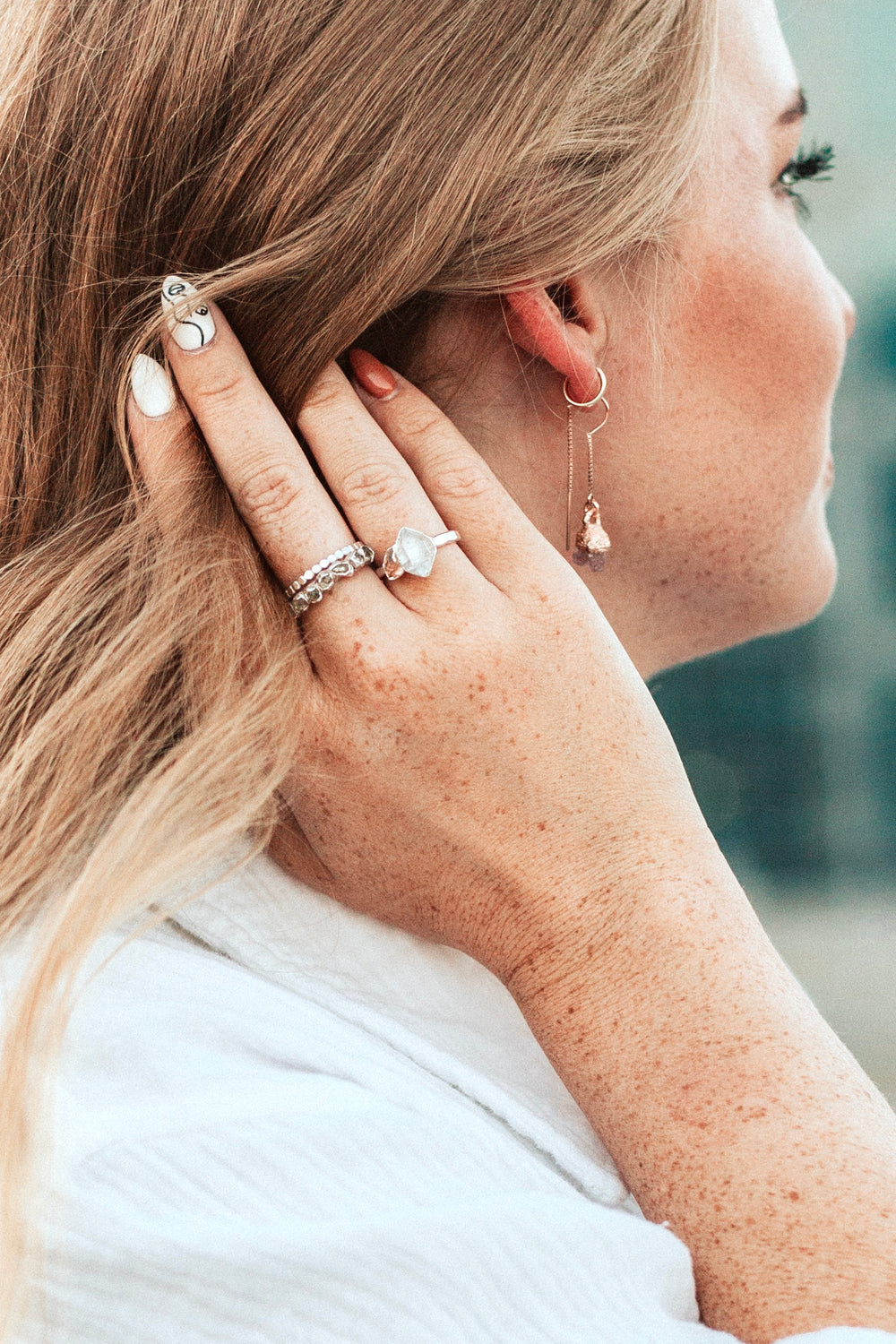 Heavensent • April + Angel Stackable Ring